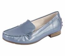 Comfort Slipper aus Lack rauchblau