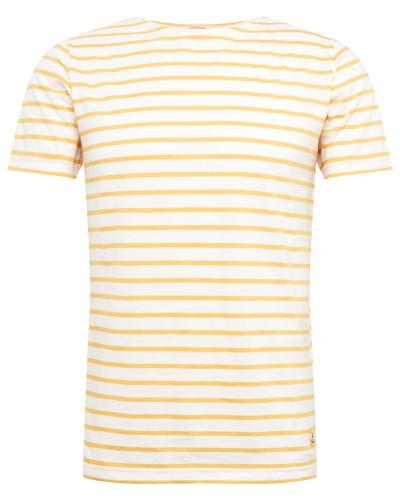 Shirt 'Marinière' gelb / naturweiß