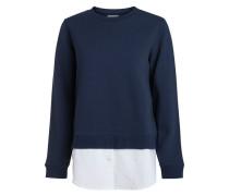 Verdecktes Hemd-Sweatshirt blau