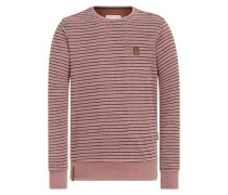 Pullover 'Indifference Of Good Men II' pastellrot / schwarz