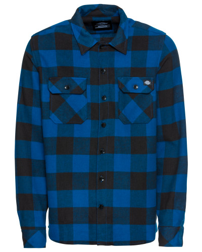 Hemd 'Sacramento' blau / schwarz