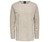 Einfarbiges Sweatshirt beigemeliert