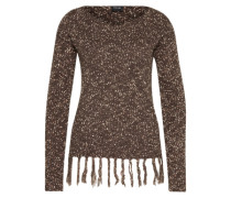 Pullover 'vijonia Fringe Knit Top' braun