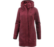 Strickfleece Damen rot