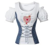 Shirt Delia blau / rot / weiß