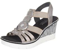 Sandaletten grau / silber