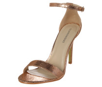 High-Heel im Metallic-Look rosé