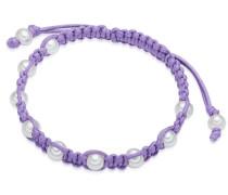 Armband lila / weiß