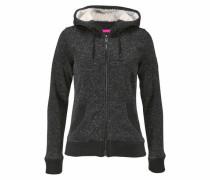 Kapuzensweatshirt ' Storm FUR Ziphood' pink / schwarzmeliert / weiß