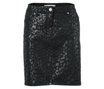 Bodyform-Minirock mit Animal-Druck schwarz