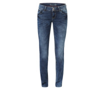 'Carrie' Slim Fit Jeans dunkelgrau