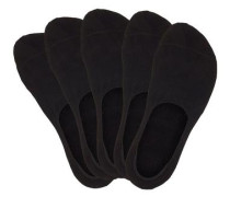 Füßlinge (5 Paar) schwarz