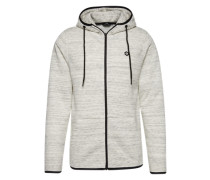 Sweatjacke 'jcocarbon Sweat ZIP Hood Camp' weiß