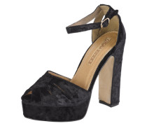 Pumps mit Peeptoe 'Plateau Party' schwarz
