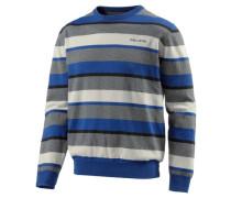 Traverse Rundhalspullover blau / grau / naturweiß