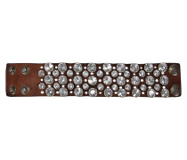 Armband mit funkelnden Nieten 'Bracciali Santorini' braun