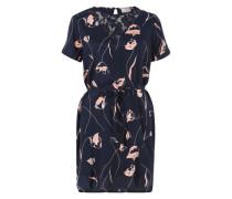 Midi-Kleid 'Jamima' dunkelblau / mischfarben