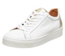 Leder Sneaker gold / weiß
