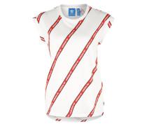 Shirt mit umgenähten Ärmeln rot / weiß