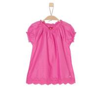 Bluse mit Blumen-Lochmuster pink