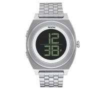 Armbanduhr 'Time Teller Digi SS' schwarz