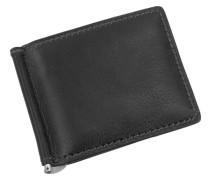 Toscana Dollarclipbörse Leder 11 cm schwarz
