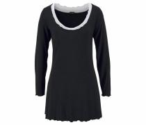 Hochwertiges Nachthemd im Layerdesign schwarz