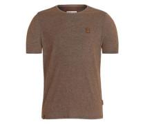 Male T-Shirt Fear will find you ocker / schwarz