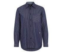 Gestreifte Bluse dunkelblau / weiß