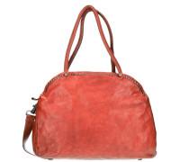 Pino Nero Shopper Tasche Leder 39 cm rot