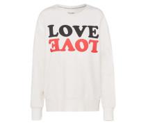 Sweatshirt mit Print hellrot / schwarz / weiß