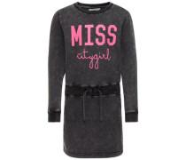 Sweat Kleid Slim Fit pink / schwarz