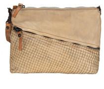 Cannella Umhängetasche Leder 29 cm beige