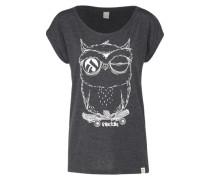 T-Shirt 'Skateowl 2' anthrazit / weiß