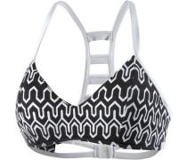 'Optic Wave' Bikini Oberteil schwarz / weiß