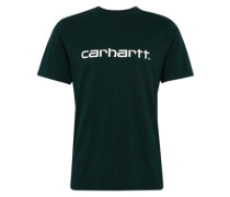 T-Shirt mit Logo schwarz / weiß