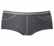 Panty aus weicher Baumwolle mit kleiner Tasche anthrazit