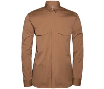 Button-Down-Hemd 'David Tech Pop' braun