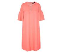 Cold-Shoulder-Kleid mit Schmuckelement pink