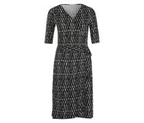 Kleid mit geometrischem Muster schwarz / weiß