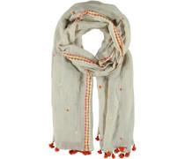 Baumwoll-Leinen Schal braun
