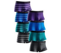 Hipster (8 Stck.) blau / grau / petrol / dunkellila / schwarz / weiß