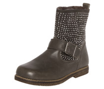 Stiefel mit Glitzersteinen grau