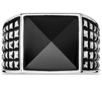 Ring mit Onyx »C4181R/90/13« schwarz / silber