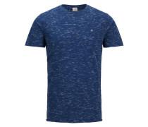 Melange T-Shirt blau