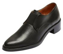 Elegante perforierte Schuhe schwarz