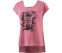 T-Shirt Damen pink / schwarz