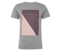 Shirt 'diagonal' grau / lila / rosa
