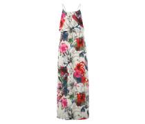 Maxikleid mit Blumen-Print mischfarben / weiß