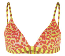 Farbenfrohes Bikini-Oberteil gelb / rot